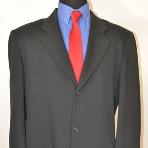 Reunion 42R Sport Coat Blazer Suit Jacket Black St